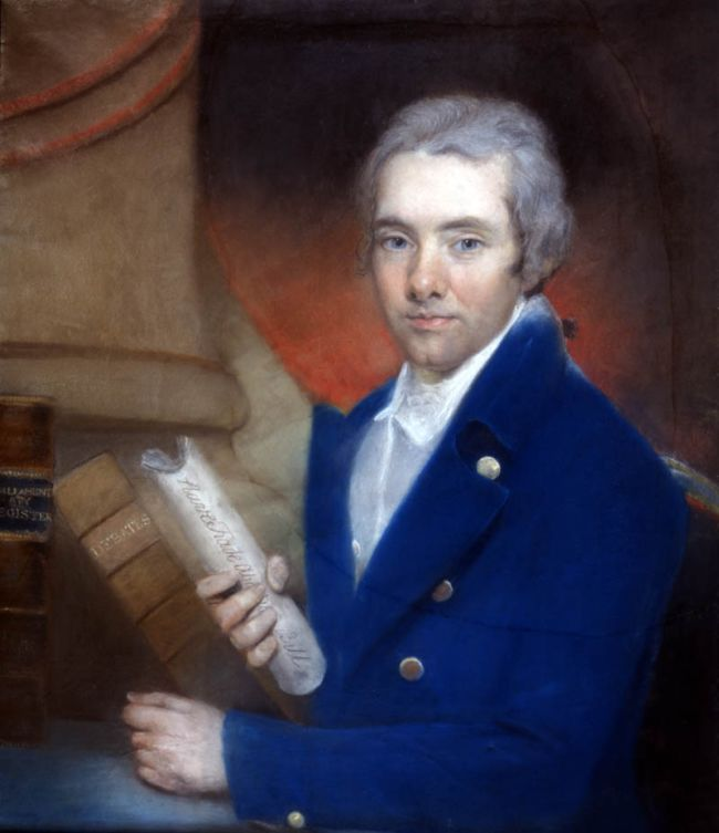 William Wilberforce with scroll