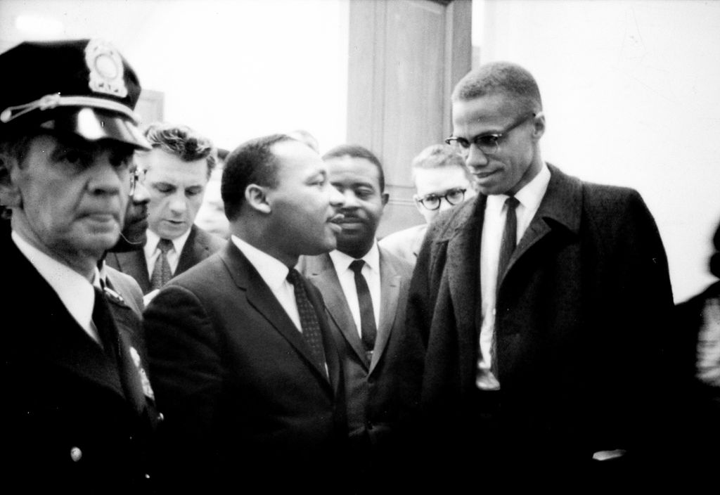 Martin Luther King Jr. with Malcolm X