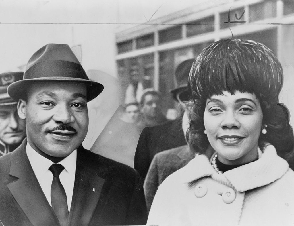 Martin Luther King Jr with Coretta