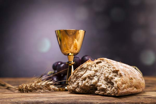 Jesus replaces sacrifice for bread and wine