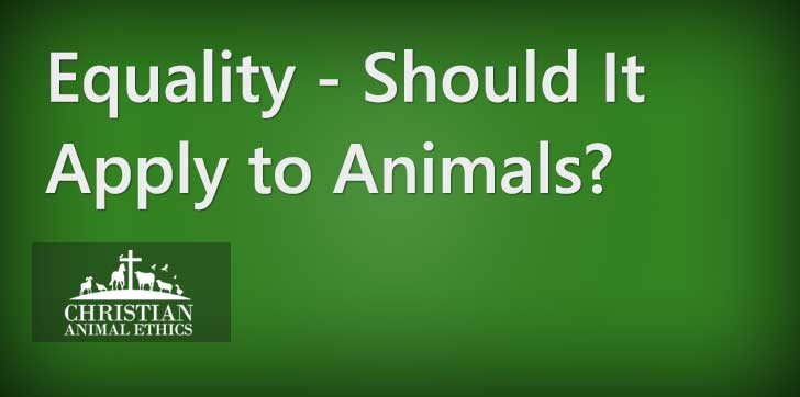 Equality - Should It Apply to Animals